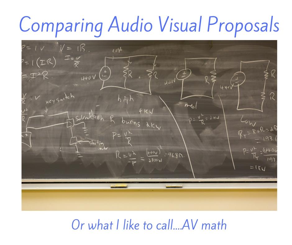 Comparing Audio Visual Proposals