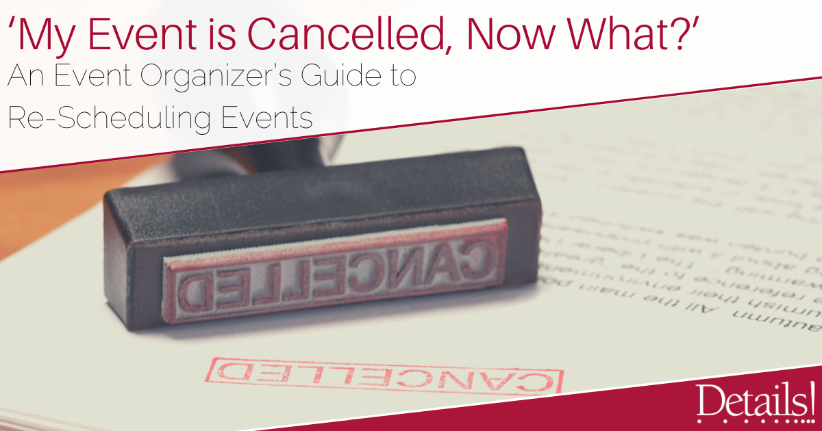 Event Cancelled - Event Organizers Guide to Rescheduling Events image